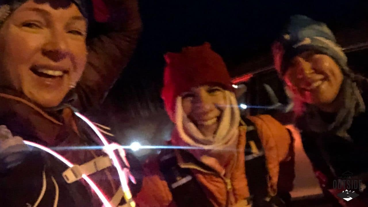 3 women go winter running in Alaska.