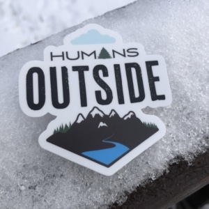 humans outside decal