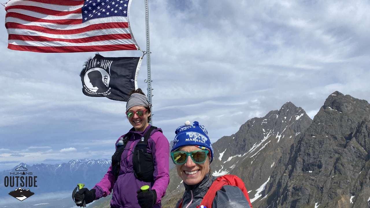 Amy Bushatz and Rachel Gernat on Mount POW/MIA Alaska
