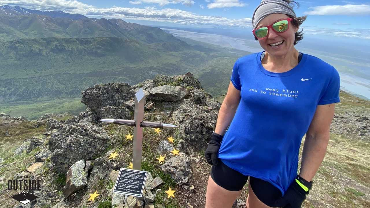 wear blue: run to remember on Gold Star Peak