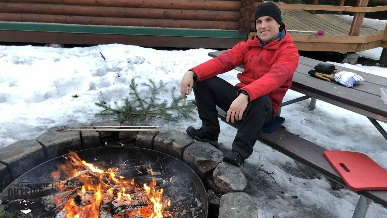 Outside the Bird Creek Alaska Public Use Cabin