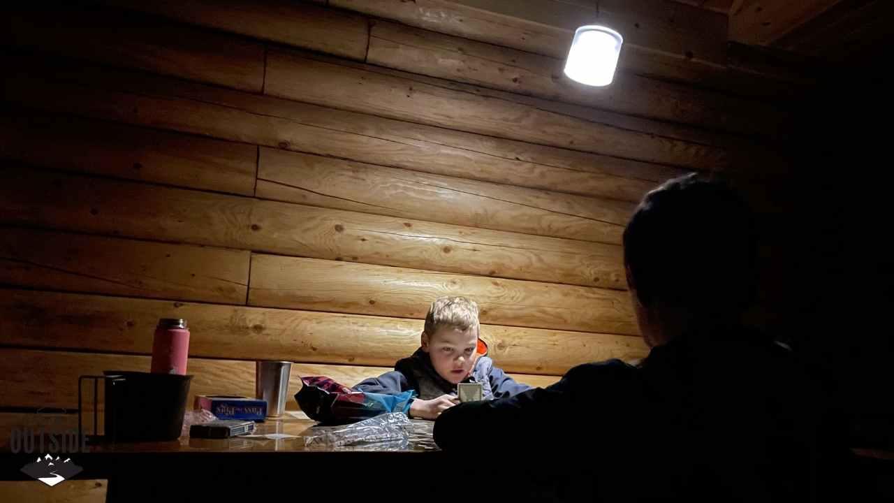 Inside Rainbow Trout Alaska Public Use Cabin